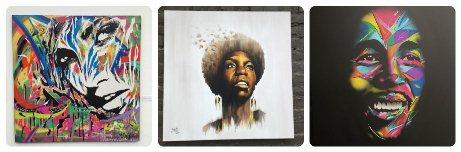 Oeuvres de l'expo street art restrospective 2018