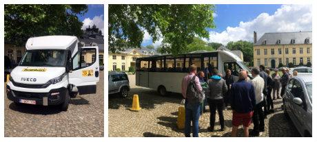 Le minis bus du Tourpitour à Bruxelles