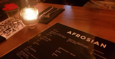 menu du restaurant Afrosian à Bruxelles
