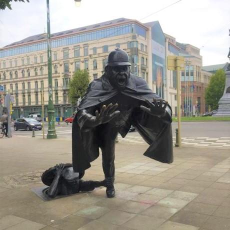 Statue insolite à Bruxelles De Vaartkapen