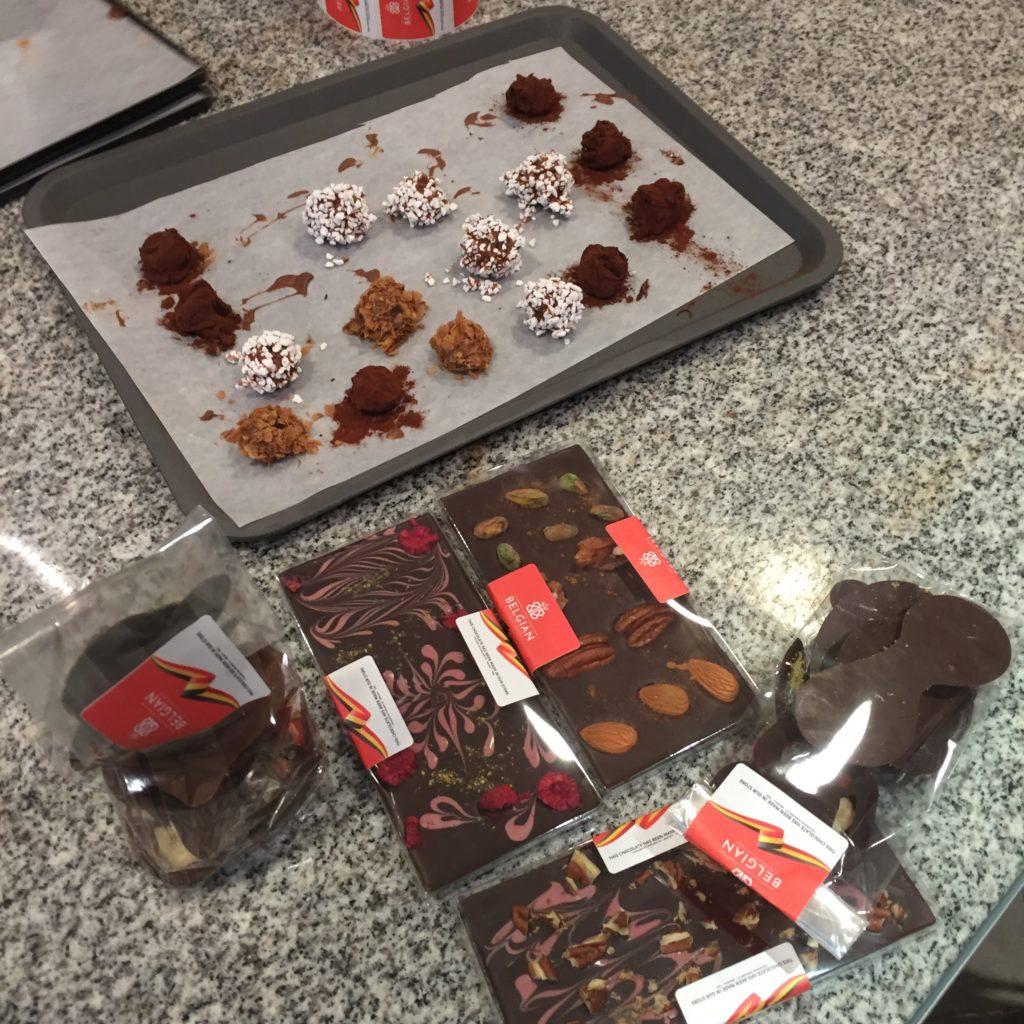 Mes creations à l'atelier chocolat