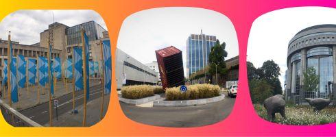 collage de photos de statues et scuptures insolites à Bruxelles