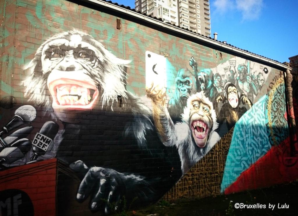 street art allée du Kaai Bruxelles